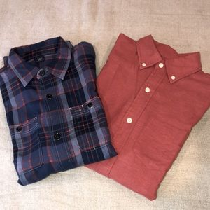 2 Boys Long Sleeve Shirts